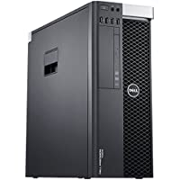 Dell Precision T5600 Workstation 2x E5-2667 2.9GHz 6-Core 96GB DDR3 AMD FirePro 2270 480GB SSD + 1TB HDD Win 10 Pro (Certified Refurbished)