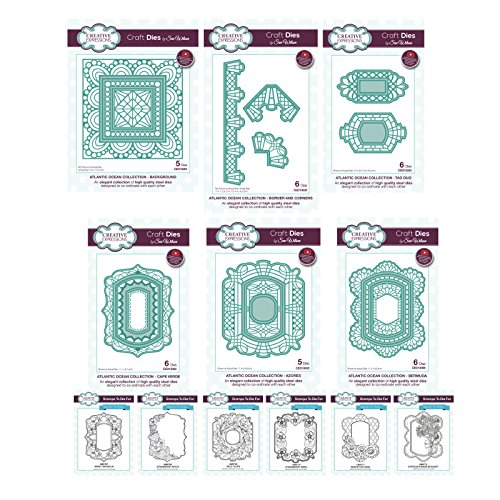 Sue Wilson Die and Stamp Set - Complete Atlantic Ocean Collection by Creative Expressions