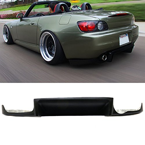 Rear Bumper Lip Diffuser Fits 2000-2009 Honda S2000 | JS Style Black FRP Add on Aftermarket Replacement Parts Rear Splitter by IKON MOTORSPORTS | 2001 2002 2003 2004 2005 2006 2007 2008