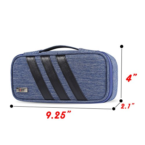 BUBM Carrying Bag for AC Adapter, Travel Organizer for Laptop Charger, Pouch Cover Case for Power Cord and Other Accessories, Blue by BUBM (Image #2)