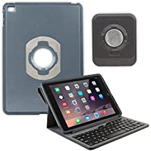 OtterBox Agility Portfolio Bundle with Keyboard and Wall Mount for Apple iPad Air 2, Black Leather