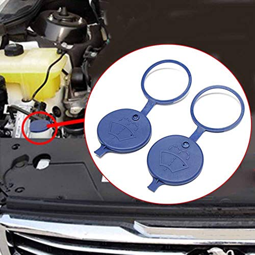 longyitrade 2 Tapas para Botella de Tanque de Coche, limpiaparabrisas, depósito de líquido, tapón para Botella para Peugeot Citroen