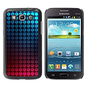 TopCaseStore / la caja del caucho duro de la cubierta de protección de la piel - Dot Vibrant Teal Pink Bubbles - Samsung Galaxy Win I8550 I8552 Grand Quattro