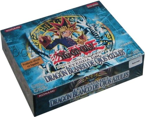 Yugioh Spanish Legend of Blue Eyes Booster Box First (1st) Edition (Box Booster Dragon White)