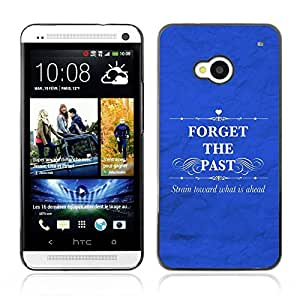 All Phone Most Case / Hard PC Metal piece Shell Slim Cover Protective Case for HTC One M7 BIBLE Forget The Past