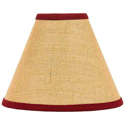 - Home Collection by Raghu Burlap Stripe Barn Red & Wheat Lampshade, 16