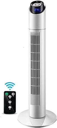 Opinión sobre FHDF Silencioso Ventilador De Torre con Mando a Distancia Portátil Oscilante 3 Velocidades 3 Viento para El Hogar Y La Oficina Temporizador De 15 Horas - Blanco + Negro (90 cm 40 w)
