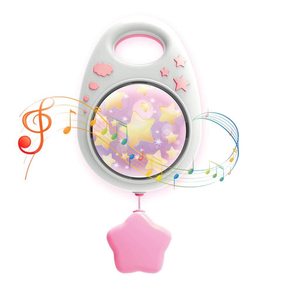 Bébé Mobile Musicale Support de mobile, boîte à musique accrochante de bébé dormant de tétine avec des jouets de musique de mélodie de palourde pour la poussette de berceau Dedeka