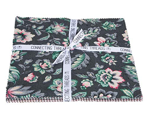 Connecting Threads Print Collection Precut Quilting Fabric Bundle (Jardin de Nicolette - 10