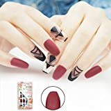 Best Fake Nails - False Nails Coffin Shape with Designs Matte 24 Review