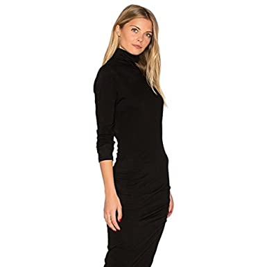 7f2c857cac3b Image Unavailable. Image not available for. Color  James Perse Turtleneck  Midi Dress-Size 2 Black