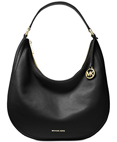 (Michael Kors Lydia Large Leather Hobo Shoulder Bag)