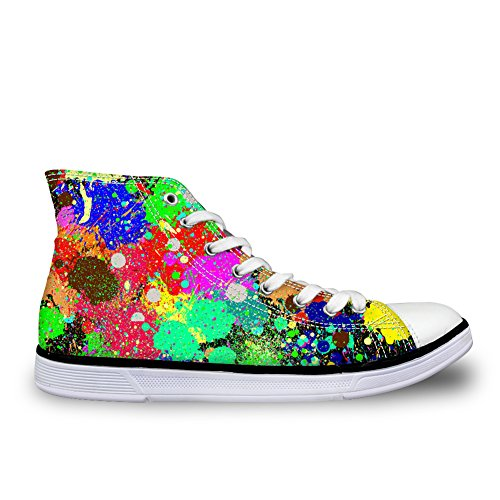 Bigcardesigns 35-45 Punti Eleganti Scarpe Da Skate High Top Canvas Sneakers Spots 2