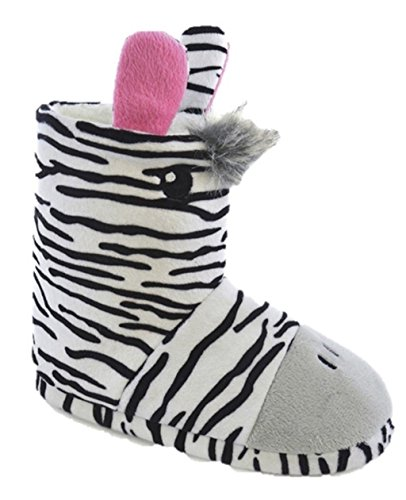 Meisjes Dier Pantoffels Bootees Laarzen Nieuwigheid 3d Giraffe Zebra Zebra