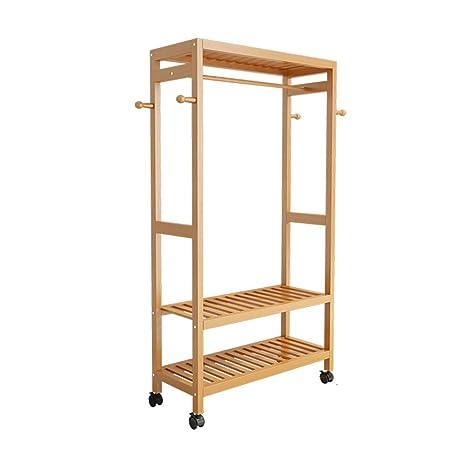 Amazon.com: ZHIRONG - Perchas de bambú para armario o ...