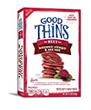 Good Thins Beet Crackers with Balsamic Vinegar & Sea Salt, 3.75 Ounce Box (Pack of 6)