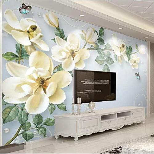 YWWZ&N 壁紙カスタムリビングルーム壁画モダンなミニマリスト手描き油絵花ヨーロッパ装飾壁A