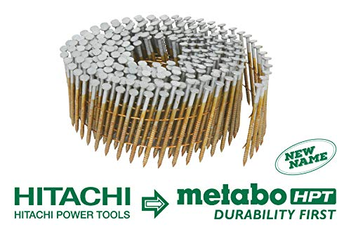 Metabo HPT 13361HPT 1-1/4-Inch x 0.092-Inch Collated Wire Coil Siding Nails, Full Round-Head, Ring Shank, Hot-Dipped Galvanized, 3600-Pack