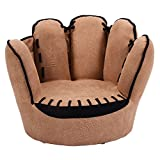 Brown Faux Fur Pile Kid Armchair With Ebook