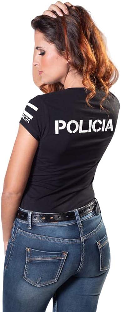 Aircops Camiseta Policia Manga Corta Mujer: Amazon.es: Ropa y ...