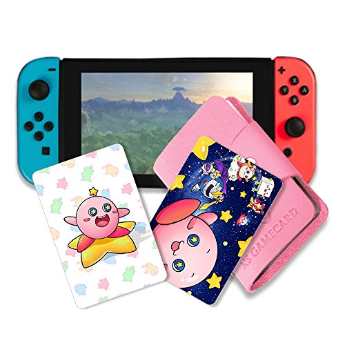 NFC Tag Game Cards for Kirby Star Allies Switch - 5pcs Cards with Holder by Pedestrians