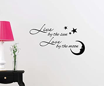 Amazoncom Wall Vinyl Decal Live By The Sun Love By The Moon Ocean