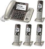 Panasonic KX-TGF353N plus one KX-TGFA30N handsets DECT 6.0 Plus Corded / Cordless 4-Handset Landline Telephone System (KX-TGF353N+1, KX-TGF352N+2, KX-TGF350N+3) (Certified Refurbished)