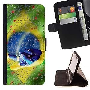 - Football Brazil Win Soccer Flag - - Prima caja de la PU billetera de cuero con ranuras para tarjetas, efectivo desmontable correa para l Funny HouseFOR Samsung Galaxy Note 3 III
