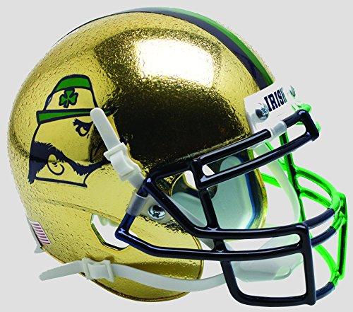 (Schutt NCAA Notre Dame Fighting Irish Mini Authentic XP Football Helmet, Shamrock Series 2015 Alt.9)