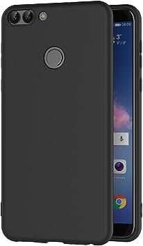 AICEK Funda Huawei P Smart, Negro Silicona Fundas para Huawei ...