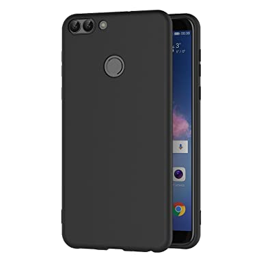 super popular 75dee 4dcfc AICEK Huawei P Smart Case, Black Silicone Cover for Huawei P Smart Black  Case (5.65 inch)