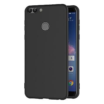 AICEK Funda Huawei P Smart, Negro Silicona Fundas para Huawei P Smart Carcasa Huawei P Smart Negro Silicona Funda Case (5,65 Pulgadas)