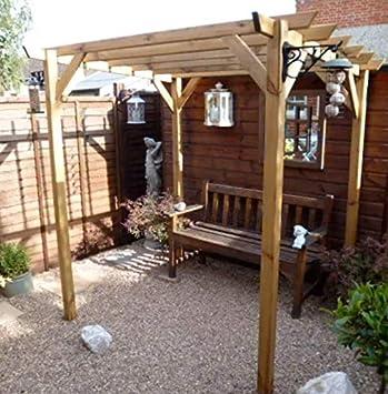 Home & Garden Pérgola de Madera para jardín al Aire Libre con diseño de Rosas, para Escalada, jardinería, jardinería, jardinería, jardinería, jardinería, etc.: Amazon.es: Jardín