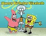 Spongebob Squarepants Edible Image Photo Cake Frosting Icing Topper Sheet Personalized Custom Customized Birthday Party - 1/4 Sheet - 79148