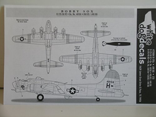"""White Dog Decals """"Decals for the B-17G Bomber"""""""