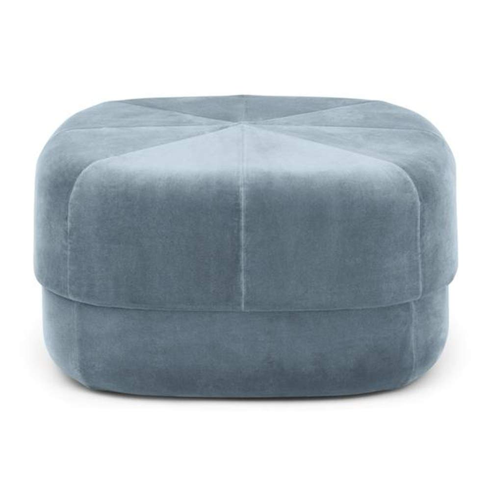 bluee 6035cm ZHAOYONGLI Footstools,Otools Porto Brushed Suede Drum Pouffe - Luxury Cylindrical Footstool - Round Footrests (color   Purple, Size   40  40 cm)