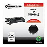 Innovera® - E505Aj Compatible Reman Ce505A(05A) Extended-Yield Toner, 5000 Page-Yield, Black