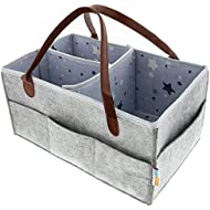Baby Diaper Caddy Organizer | Portable Large Diaper...