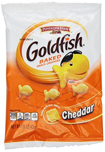 (Pepperidge Farm Goldfish, Cheddar, 1.5 Ounce Bags (Pack of 24))