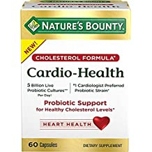 Nature's Bounty Cholesterol Cardio-Health Probiotic Support, 60 Capsules (Pack of 2)