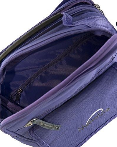 Mens/señoras lienzo cruzar cuerpo hombro/bandolera/Bolsa de viaje (gasolina, morado, negro) morado