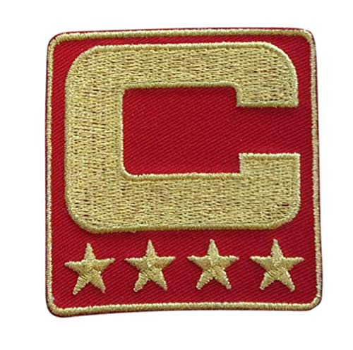 - Red All Gold Captain C Patch Iron On for Football Jersey (Atlanta)