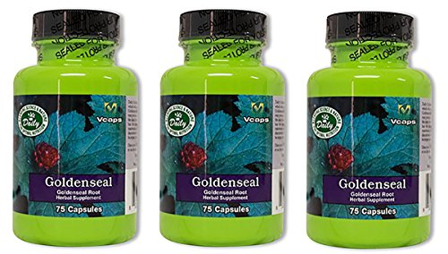 Daily Manufacturing Goldenseal Root Herbal Supplement 75 Capsules, 3 Pack by Daily Manufacturing