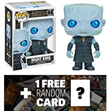 Night King: Funko POP! x Game of Thrones Vinyl Figure + 1 FREE Official Game of Thrones Trading Card Bundle [50689]