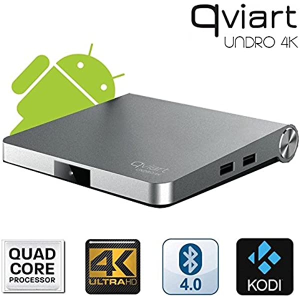Receptor Satélite Qviart Undro 4K WiFi Android 6.0 DVB-S2 ...