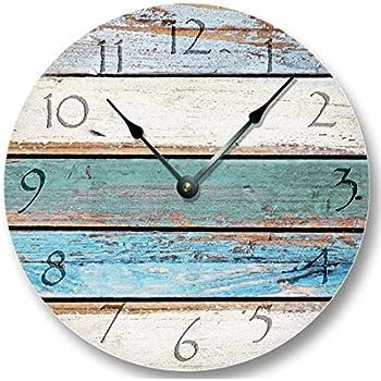 Amazon.com: Weathered Beachy Boards Wall Clock - Ocean