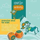 Kidnasium Activity Fitness & Exercise Dice   Fun
