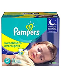 Pampers Swaddlers Overnights Disposable Diapers Size 5, 52 Count, SUPER BOBEBE Online Baby Store From New York to Miami and Los Angeles