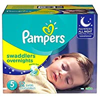 Pampers Swaddlers Overnights Diapers Size 5, 52 Count