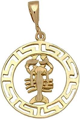 Minoplata Colgante del Horóscopo Cáncer de Oro 18 KL. una Joya Ideal para Regalar a Hombres y Mujeres Que han Nacido bajo Este Signo del Zodiaco